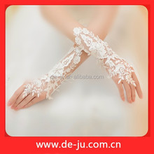 Wedding Bridal White Floral Cheap Sexy Lace Gloves