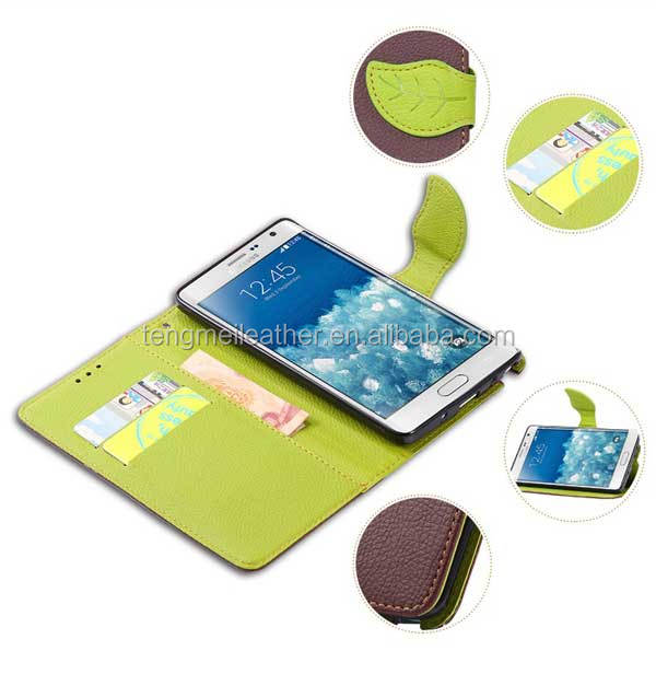 for Note edge! Newcomer lychee wallet leaf magnetic buckle Leather Case for Samsung Galaxy Note edge