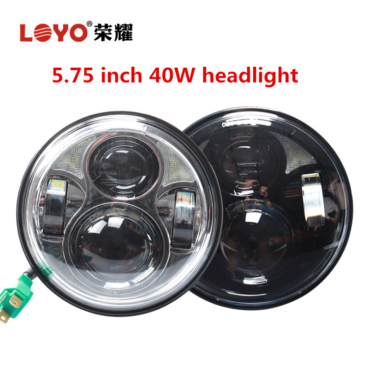 "5.75"" 5 3/4 inch high/low beam round led headlight for harley 5.75"" motorcycle headlight"