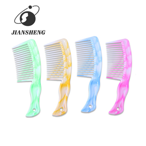 High Quality Durable Plastic Large Wide Tooth Curly Hair Comb