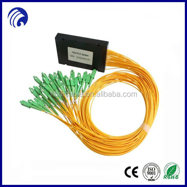 Supply 1m single mode ftth SC 1x32 plc fiber optical splitter with ABS box