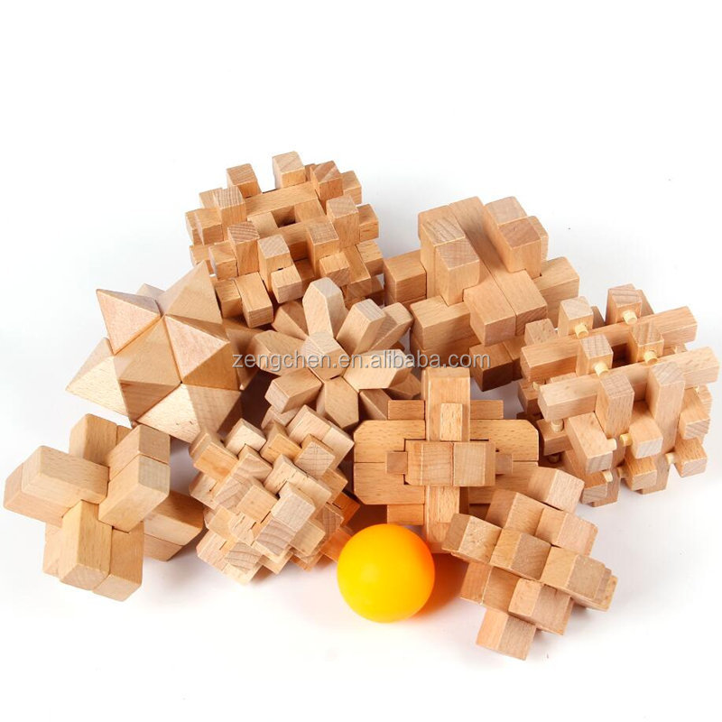 Intelligence 3d Wooden Cube Toy Brain Teaser Puzzle for the Best Learning & Education, Suitable to Adult and Kids