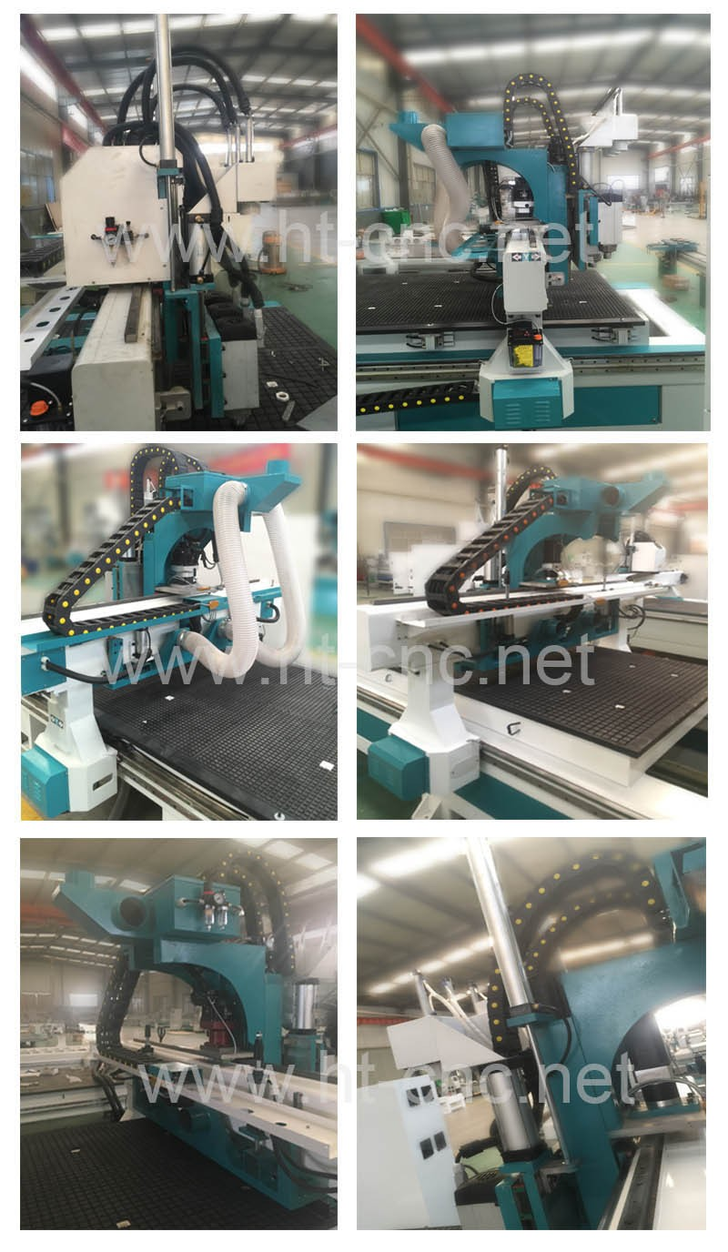 HT-1325-3 Ecnomical Three Pneumatic Tool Changer Nesting CNC router