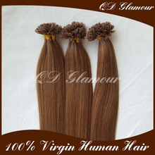 2017 Chinese Factory Top Quality 0.8g 1g 100 Keratin Tip Human Hair Extension Piano Color