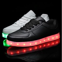 light up shoes young men and women couple light shoes