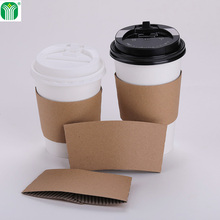 custom logo print kraft paper coffee cup sleeve