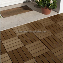 Embossed <strong>wood</strong> grain on surface interlocking <strong>wood</strong> plastic composite decking tiles for promotion