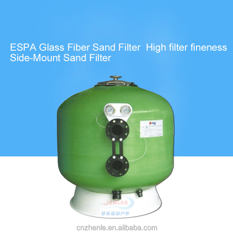 ESPA Side-Mount Sand Filter glass fiber and resin Sand cylinder sand filter for water filtration/treatment