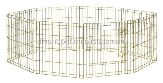 8 Panels Dog Puppy Cat Rabbit Exercise Fence playpen