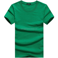 Men Solid O-Neck Short Sleeves Cotton Straight T-shirt