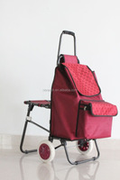 shopping cart,Foldable shopping cart hot sell shopping trolley bag with seat