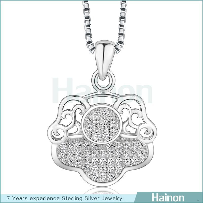 2015 925 sterling silver Fashion special Shape Pendant Necklace