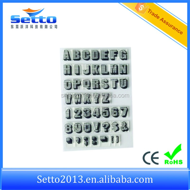 Hot sale rubber word stamps for card making