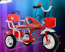 2016 kids double seat children tricycle two seat