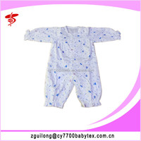 Cotton Gauze Long Sleeve Rompers 2