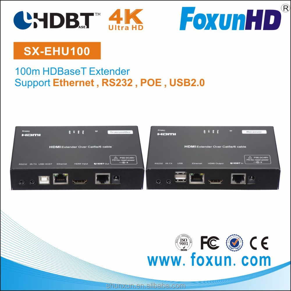 Shunxun best buy HDMI KVM Extender with RS232 and 3x3.5mm Phone Jack and RJ45