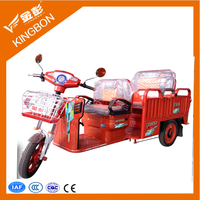 adult tricycle for cargo and passenger two use electric tricycle china