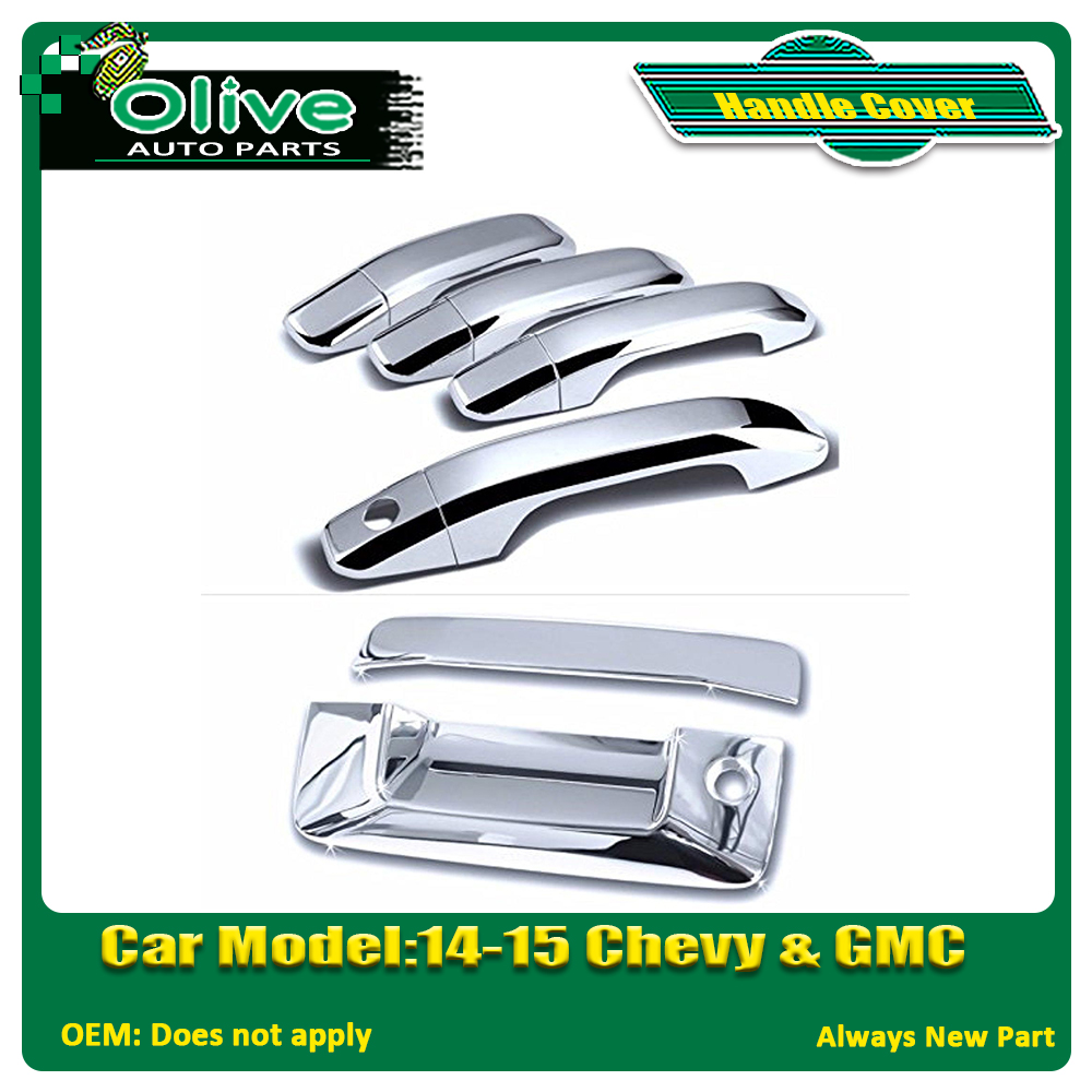 Chrome Door and Tailgate Handle Covers For 14-15 GMC & Chevy