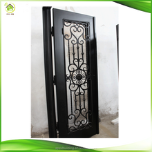 Single custom metal front iron gate design for doors manufacturers