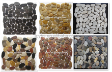 sliced pebble stone mosaic