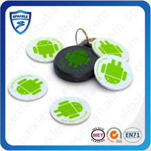dustproof water resist rfid contactless 13.56 mhz epoxy tag nfc sticker tag