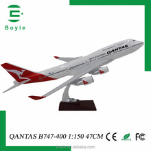 Special present 47CM Boeing 747 Qantas resin crafts collectible aircraft models 1/150 for business present