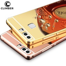New Product Aluminum Frame Mirror Phone Case For Huawei Honor V9 Play 5C 6X P7 P8 P9 P10 Plus Mate 10 Lite Enjoy 6 7X Cases