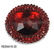 30mm round resin rhinestone crystal cabochon beads