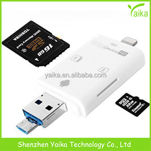 iFlash USB SD HC SD Micro OTG Card Reader For IOS 9 iPhone 5 6 6S Plus iPad PC & Android