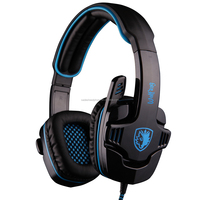 7.1 virtual sound channel effect gaming headphones with Soft and comfortable ear cushions headphones