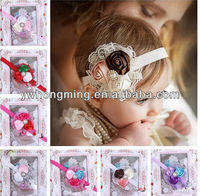 Infant Satin 3 rose flower headband Baby hairband Toddler Baby girls floral headbands