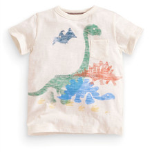 oem hot sale 2016 summer children quick dry fashionable dinosaur printed old skull t-shirt