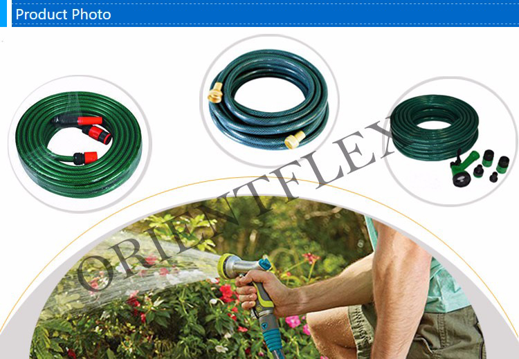 China anti torsion non kink green or yellow  PVC Garden hose