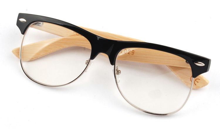 100% Handmade Bamboo Round Clear Computer Optical Eye Glasses Frame Eyeglasses Men Women Frames Fashion Brand Designer CC0419
