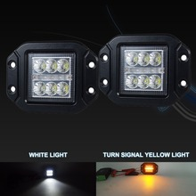 Newest Auto Accessories 3.5 Inch 18W White DRL Turn Signal Led Portable Work Lights for all vehicles