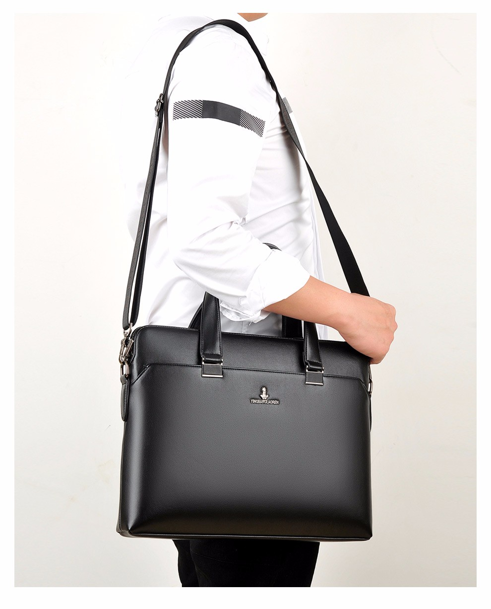 OEM office business PU leather handbag/briefcase/laptop bag for men , factory price directly