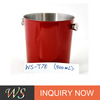WS-T7E red metal ice barrel coolers high quality stinless steel beer ice bucket
