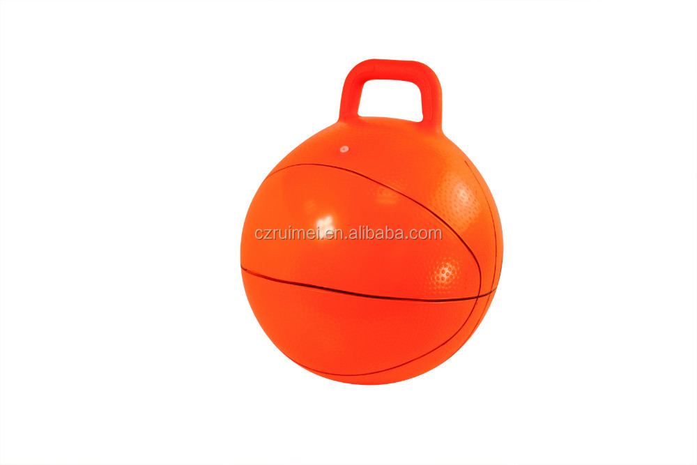 18inch handle hopper ball for jumping, eco-friendly PVC