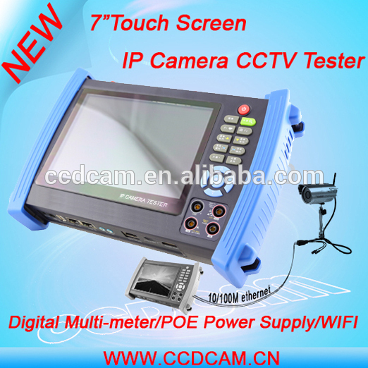 Portable 7 inch Touch Screen Multifunction IP AHD CVI TVI Onvif IPC CCTV Camera Tester