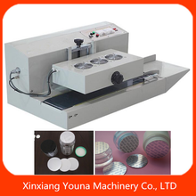 continuous plastic bottle heat induction sealer for aluminium foil lid
