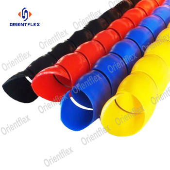 Plastic blue colored uv high temp heavy duty hydraulic hose spiral wrap