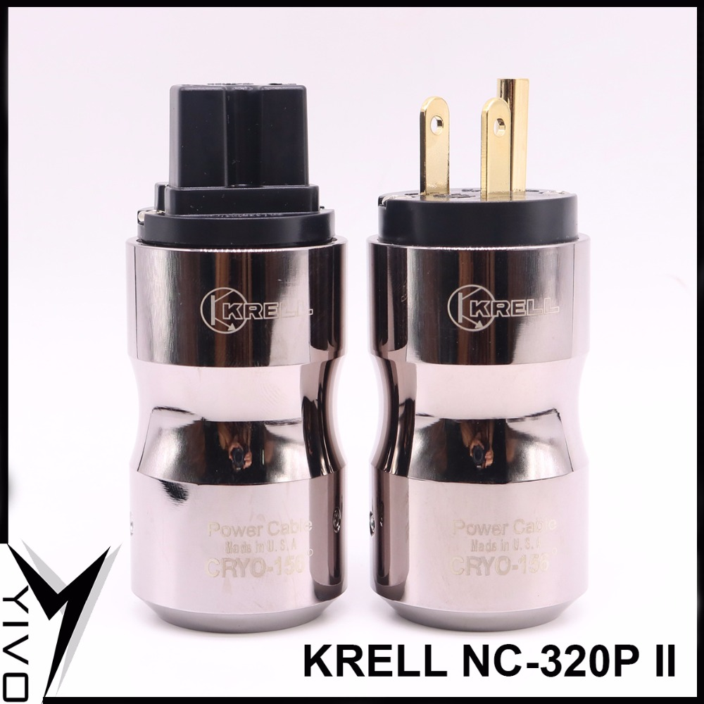 KRELL NC-320P# II Pure copper plating HIFI audio video power connector female US plug