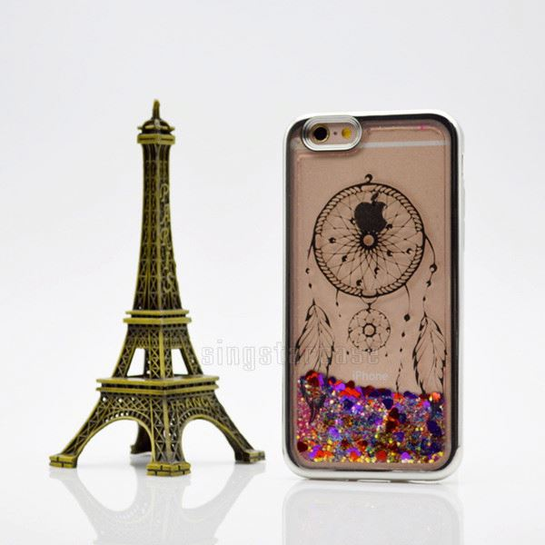 New Printing Pattern Soft TPU Glitter Liquid Quicksand Phone Case For ZTE <strong>L2</strong> Plus With Electroplating
