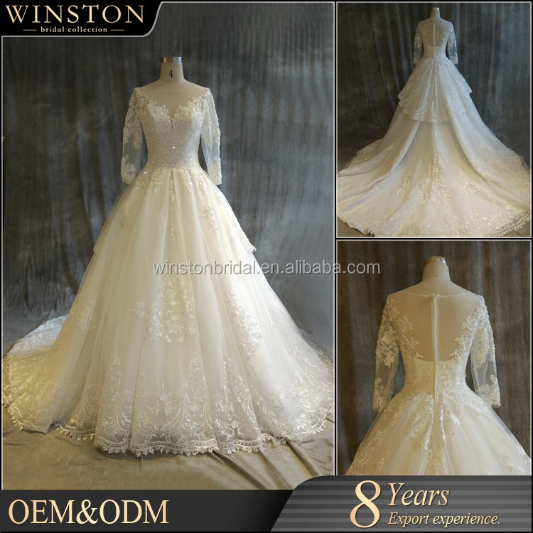 2016 Guangzhou Supplier german satin cheap wedding dresses