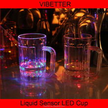 world cup party supplying led glowing cup , soccer projector plastic cup , led drinking cup with 3 led blinking