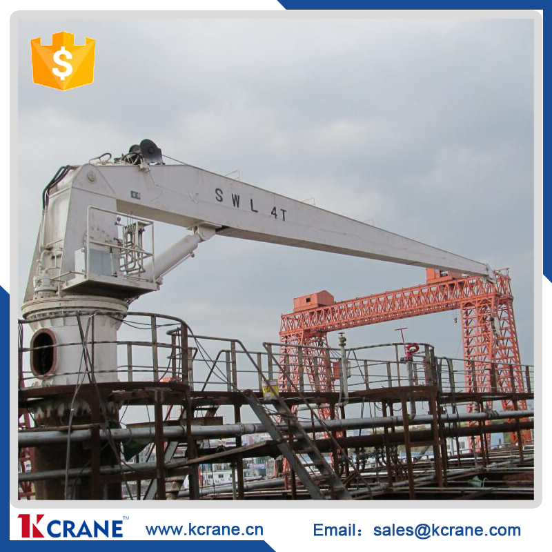 Knuckle boom pedstallifting jib electric hydraulic ship marine crane