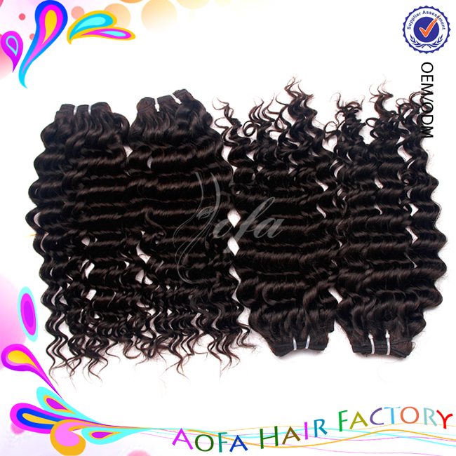 2015 Wholesale Hair Products new year Hot Selling Advertising!!! Brazilian Deep Wave Virgin Remy Human Hair Extension