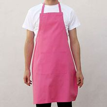 White Printing Cotton Or Canvas Cafe Chef Apron In Linen With Adjust Buttons For Wholesale