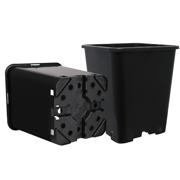 Professional Manufacturer 2 / 3 Gallon Square Black Plastic Pot