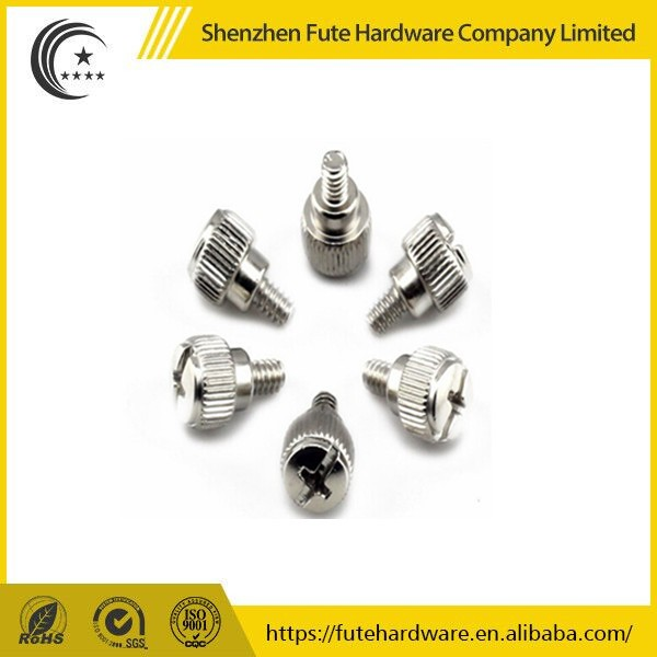 Stainless steel philips cross recessed knurled thumb screw m3